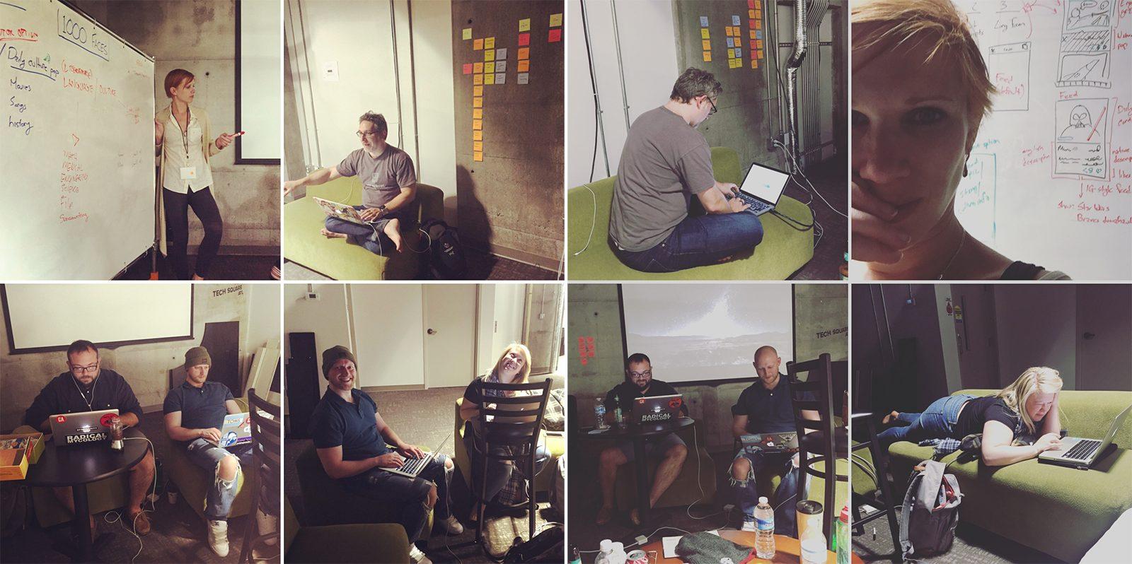 Xây dựng nguyên mẫu là hoạt động kinh doanh nghiêm túc. Chúng tôi đã tận dụng lợi thế của một hackathon để thử nghiệm làm việc cùng nhau và với một nhóm trước khi bỏ công việc hành chính của chúng tôi.